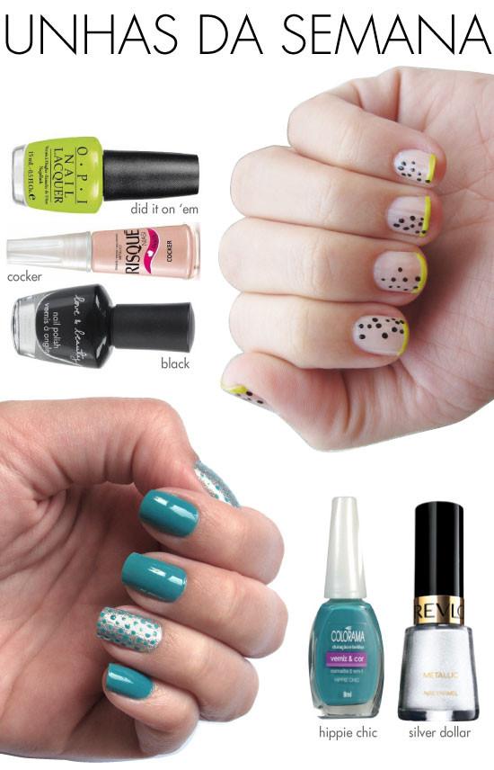 unhas-de-segunda-unhas-diferentes-e-nail-art-poas-bolinhas-inglesinha-neon-metalico-preto-nude-hippie-chic