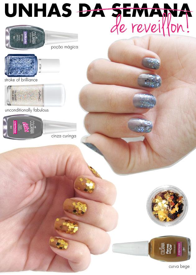 unhas-de-segunda-unhas-diferentes-e-nail-art-glitter-mix-de-glitters-colorama-mac-essie-cinza-curinga-glitter-quadrado-impala-unhas-artisticas-dourado-curva-bege-forma-em-cor