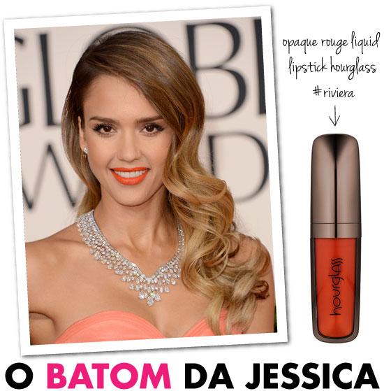 batom-jessica-alba-laranja-golden-globe-awards-matte-hourglass-opaque-rouge-liquid-lipstick-riviera-maquiagem-make