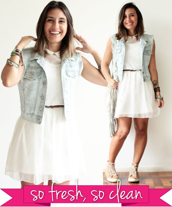 look-do-dia-carol-burgo-small-fashion-diary-look-vestido-branco-colete-jeans-tenis-cinto-tresse-verao-gola-fast-fashion-