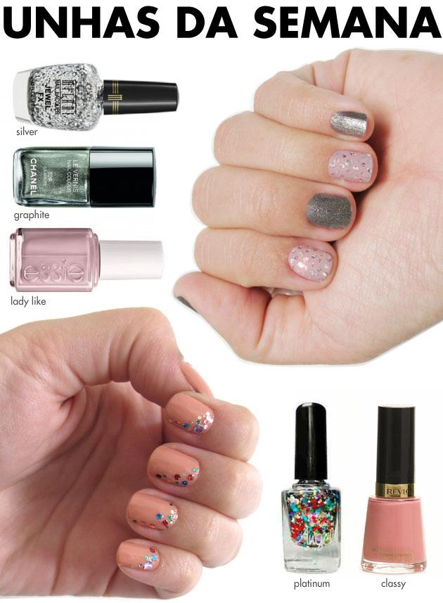 unhas-de-segunda-unhas-diferentes-e-nail-art-chanel-graphite-milani-jewel-fx-silver-essie-glitter-sancion-angel-platinum-classy-revlon