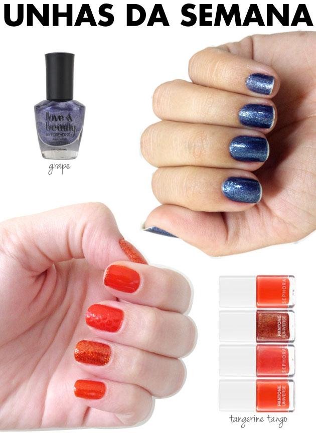 unhas-de-segunda-unhas-diferentes-e-nail-art-grape-forever-21-tangerine-tango-pantone-sephora-