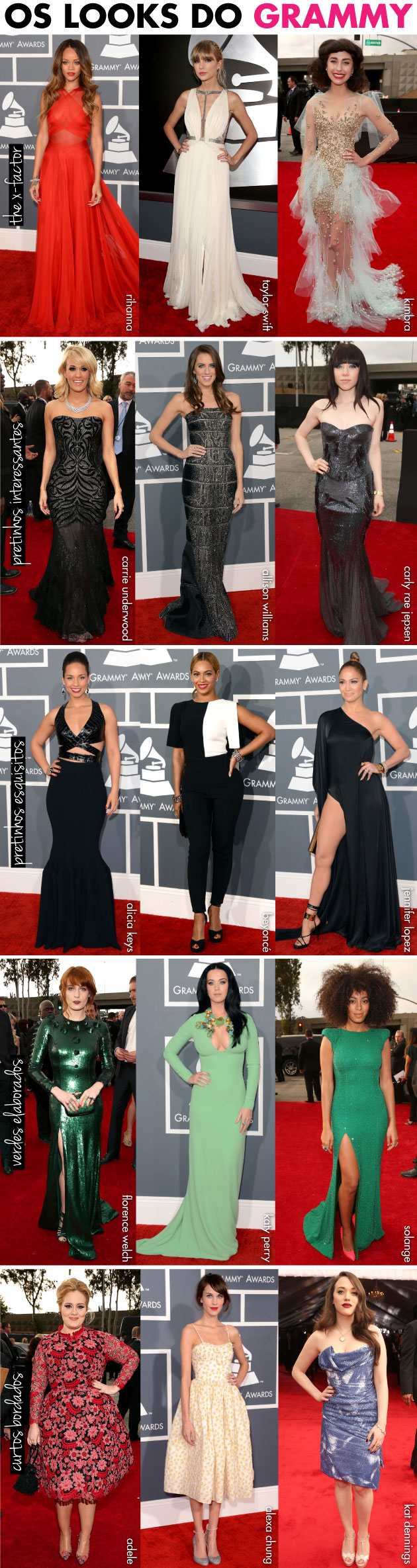 looks-grammy-2013-rihanna-kimbra-taylor-swift-adele-katy-perry-beyonce-j-lo-allison-williams-carly-rae-jepsen-alexa-chung-kat-dennings-solange-florence-welch-