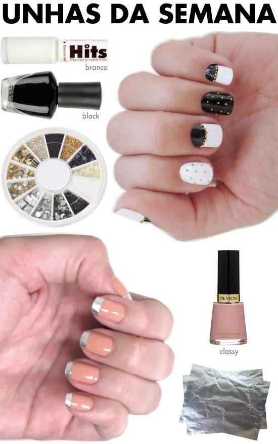 unhas-de-segunda-unhas-diferentes-e-nail-art-papel-aluminio-esmalte-nude-preto-e-branco-caviar-dourado-meia-lua