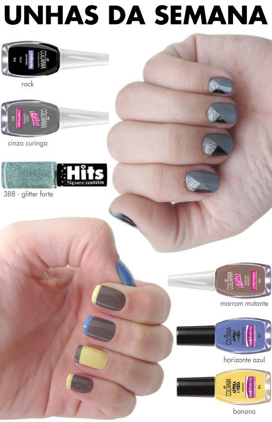 unhas-de-segunda-unhas-diferentes-e-nail-art-inglesinha-colorida-colorama-pastel-geometrica-preta-e-prata-glitter-hits-