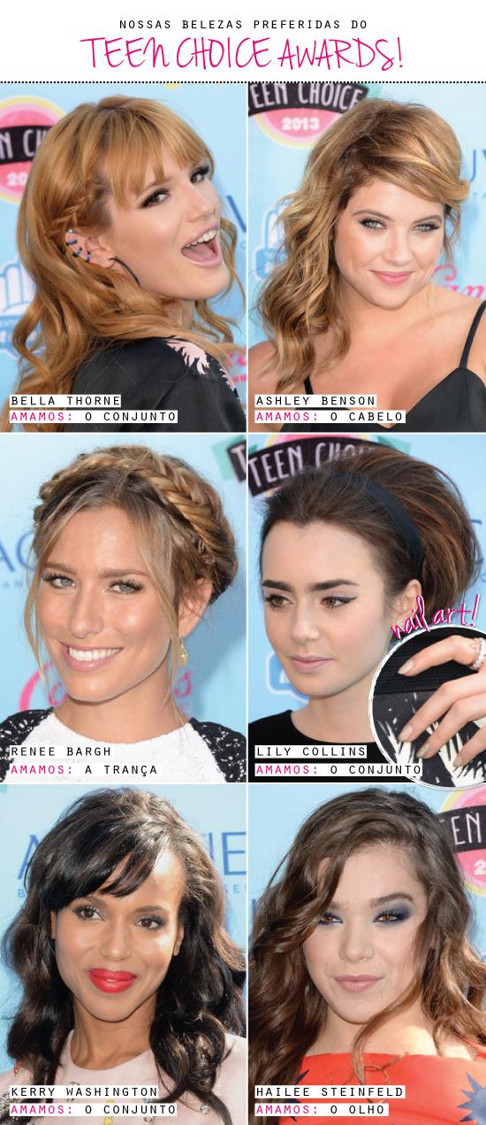 teen-choice-awards-beleza-dica-maquiagem-make-inspiracao-bella-thorne-lily-collins-ashley-benson-tranca-cabelo-beaute-beauty-makeup-blog-2013