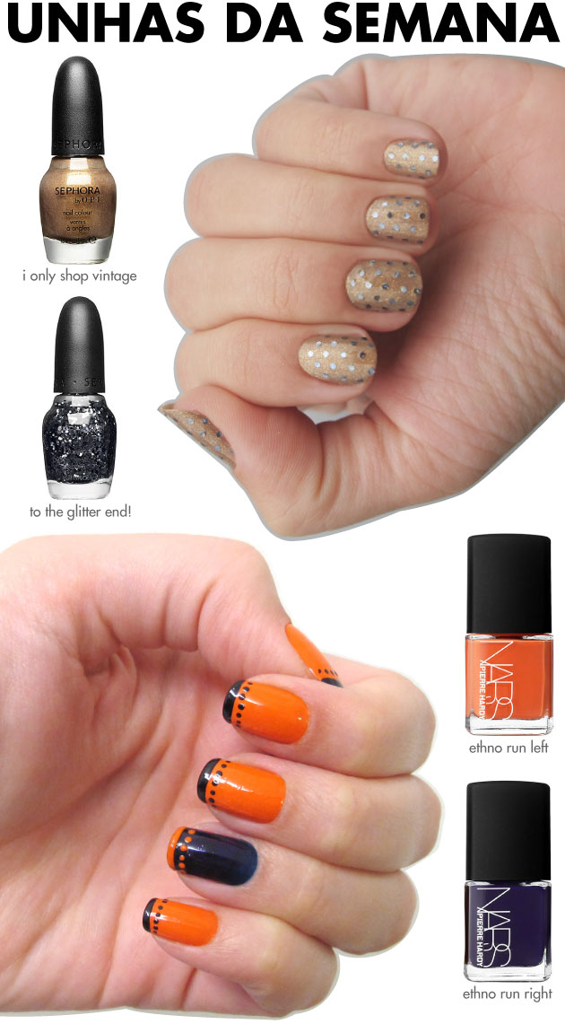 unhas-de-segunda-unhas-diferentes-e-nail-art-sephora-opi-pois-de-glitter-metalico-nars-pierre-hardy-ethno-run-left-right