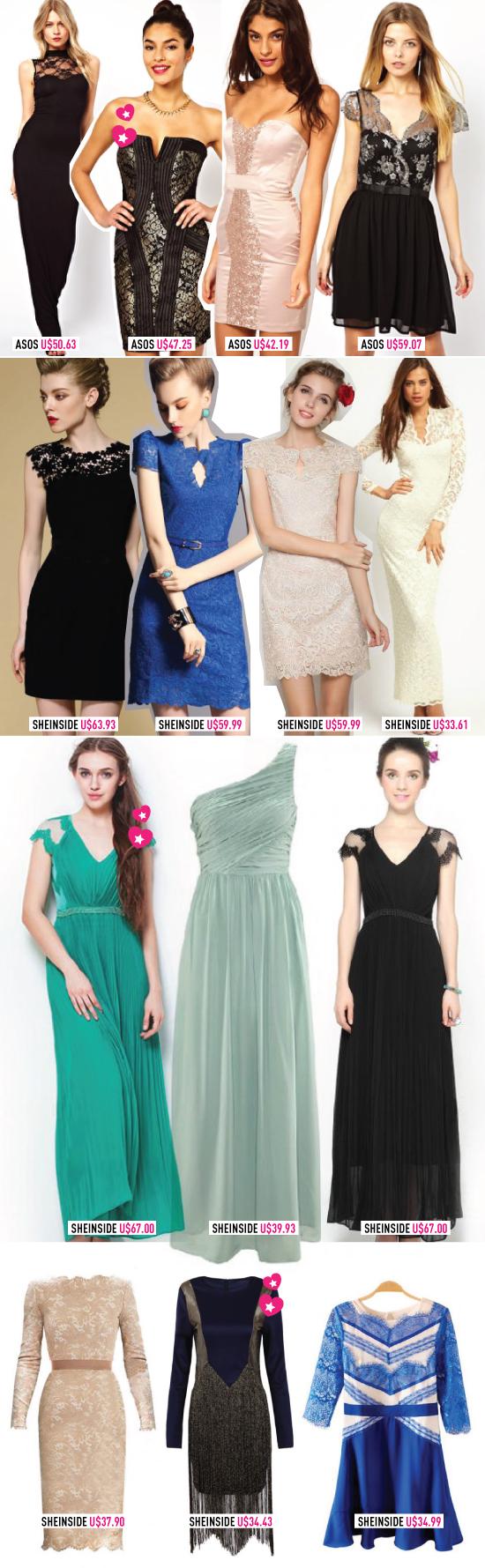 com: Modelos de vestidos de Renda Longos – Como Usar e Onde Comprar