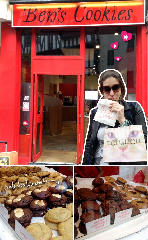 bens-cookies-londres-turismo-comer-barato-biscoito-cookie-cremoso-london-ben's-cookies-flavors