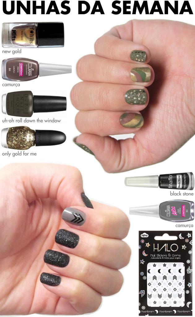 unhas-de-segunda-unhas-diferentes-e-nail-art-esmalte-glitter-texturizado-adesivos-halo-npw-nail-sticker-marble-nails-militar-camuflado-glitter-