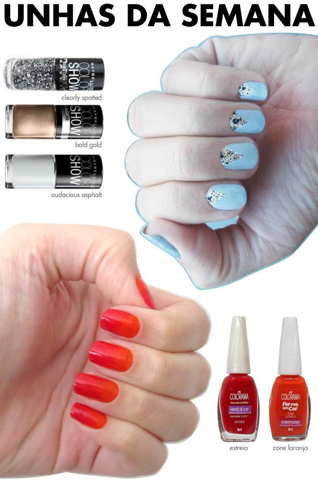 unhas-de-segunda-unhas-diferentes-e-nail-art-meia-lua-geometrica-degrade-vermelho-laranja