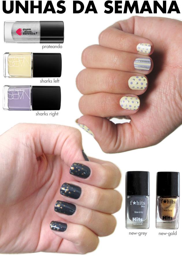 unhas-de-segunda-unhas-diferentes-nail-art-poas-pierre-hardy-prateando-bolinhas-fhits-hits-new-gold-new-grey