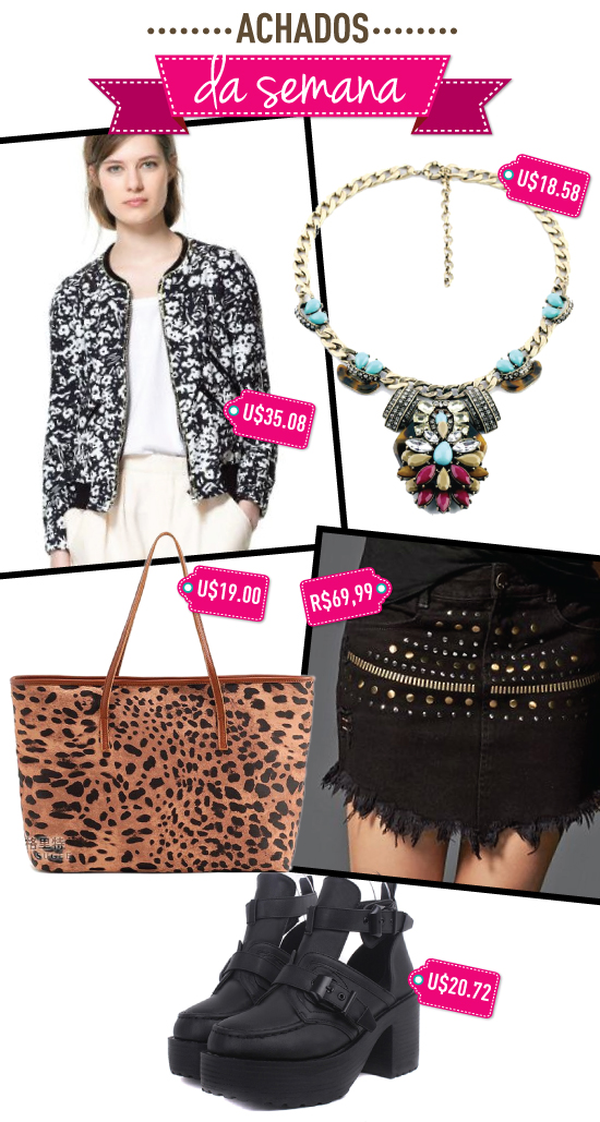 achados-da-semana-sheinside-marisa-bolsa-onca-tote-colar-necklace-bota-balenciaga-jaqueta-floral-aliexpress-sammy-dress
