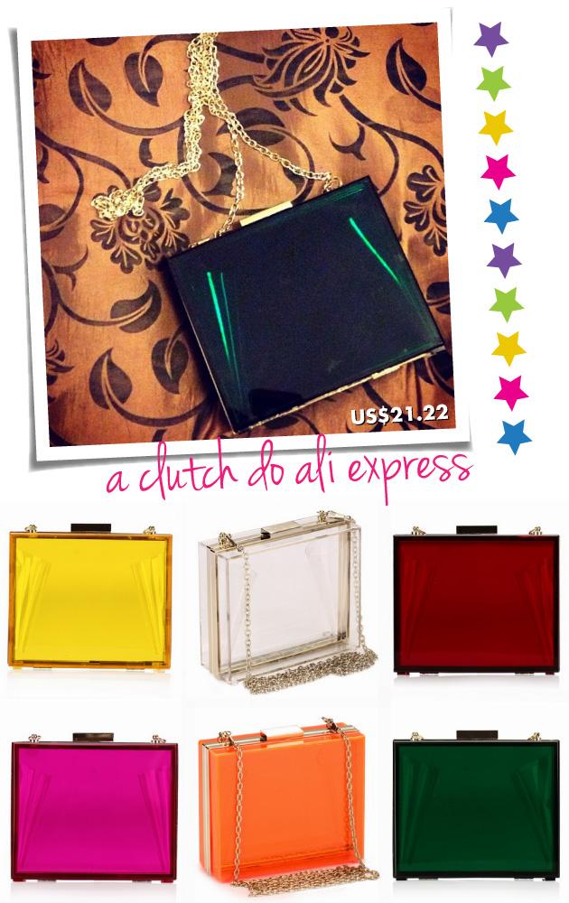 clutch-achado-ali-express-china-compra-internet-ebay-bolsa-acrílico-verde-colorida-amarela-vermelha-rosa-laranja
