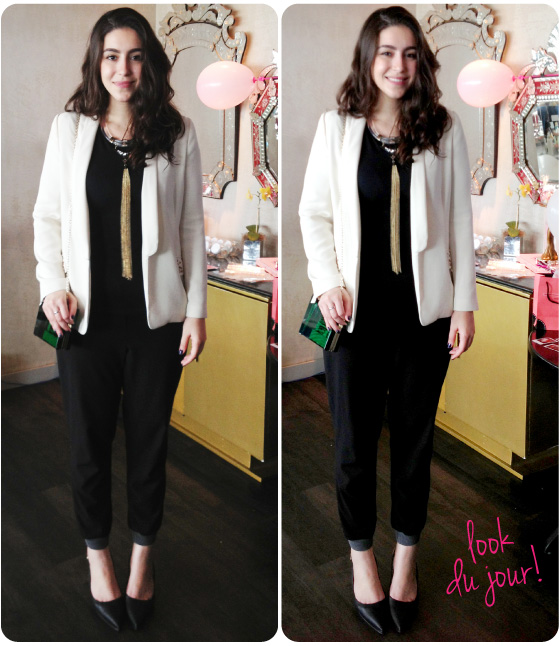 look-do-dia-brunch-benefit-bar-d'hotel-blazer-branco-bolsa-ali-express-colar-topshop-preto-e-branco