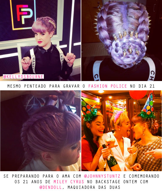 kelly-osbourne-beleza-cabelo-hair-updo-ama-american-music-awards-2013-spikes-tranca-braid-dica-blog-look-makeup-beleza