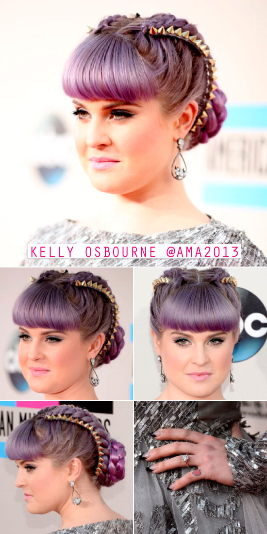 kelly-osbourne-beleza-cabelo-hair-updo-ama-american-music-awards-2013-spikes-tranca-braid-dica-blog-look-makeup-beleza
