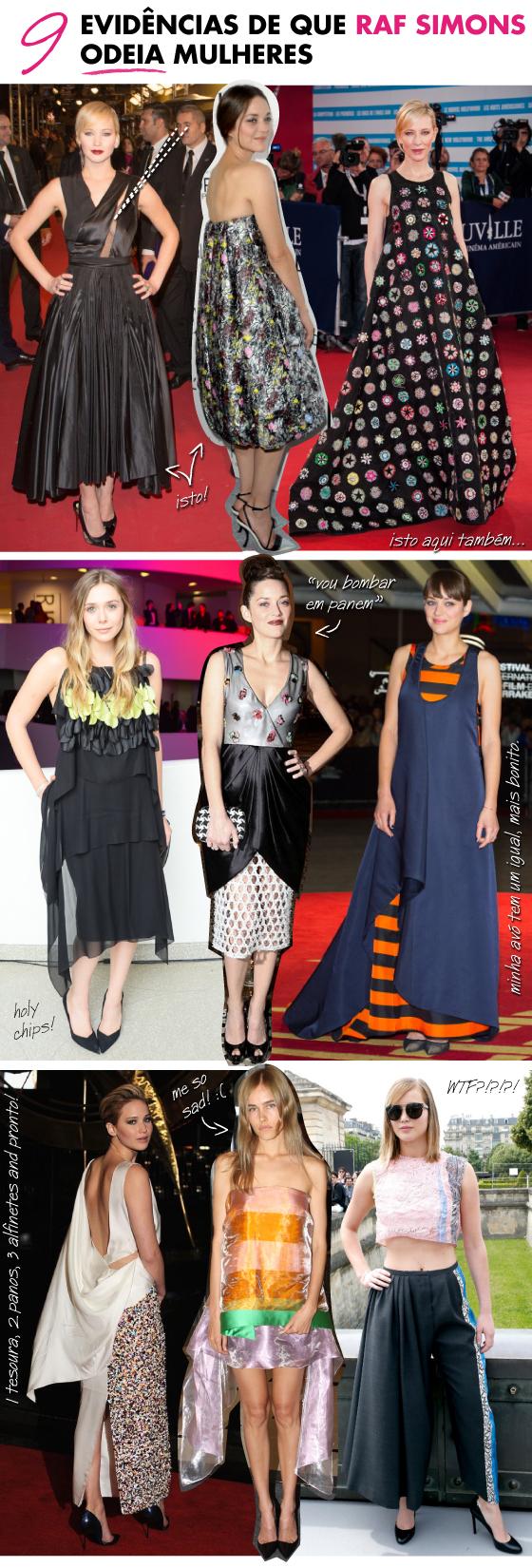 9-evidencias-de-que-raf-simons-dior-odeia-mulheres-jennifer-lawrence-vestido-dior-feio-look-ugly-dress-marion-cotillard-john-galliano