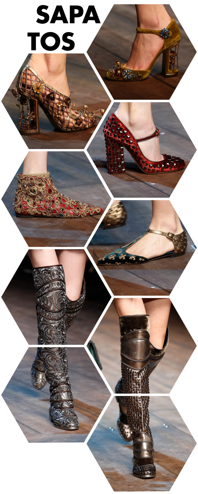 dolce-gabbana-fall-2014-sapatos-shoes-botas-boots-medieval-veludo-bordado