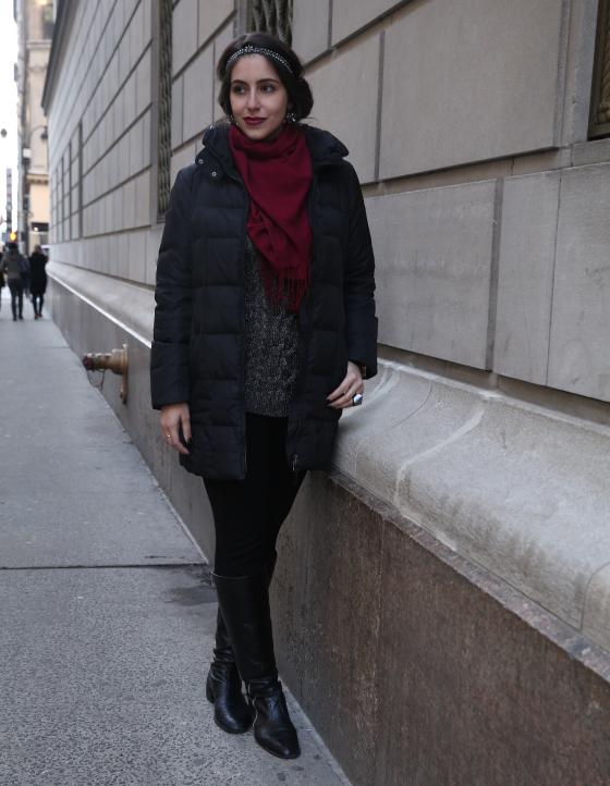 look-do-dia-nyfw-frio-em-nyc-inverno-neve-penteado-legging-bota-de-montaria-tricot-cachecol