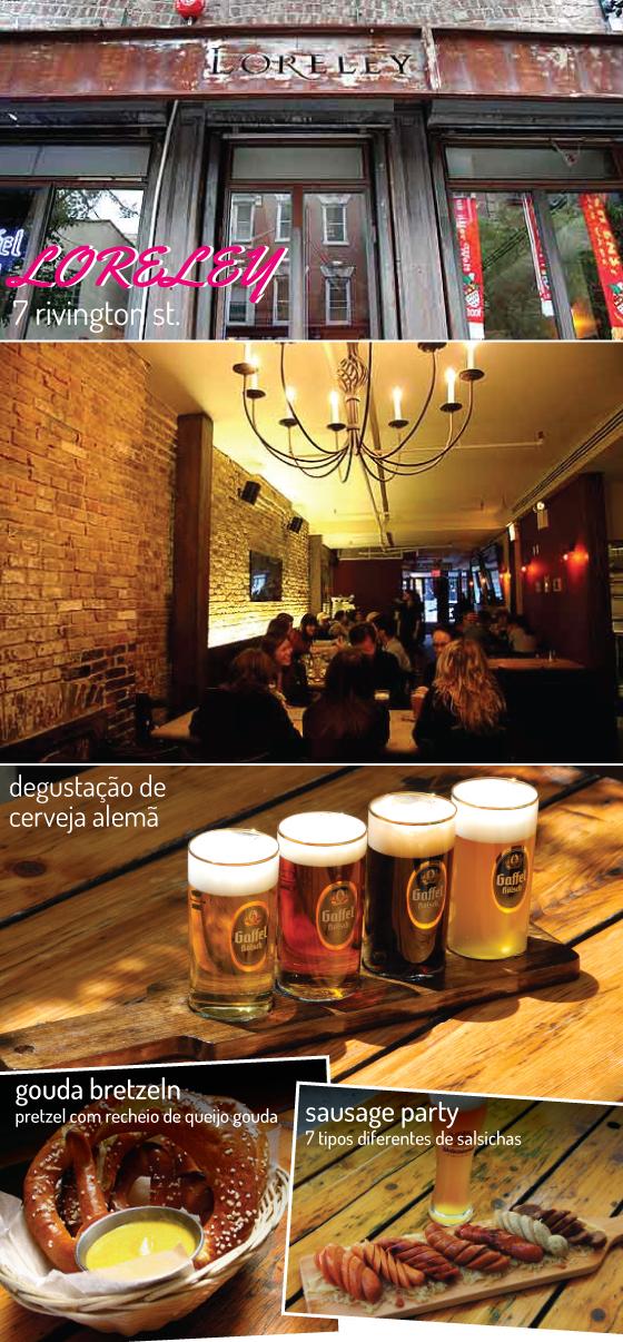 ny-new-york-lower-east-side-nova-iorque-viagem-travel-beer-cerveja-degustacao-loreley-salsicha-comida-restaurante-dica-onde-ir-alema