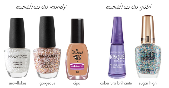 unhas-de-segunda-esmaltes-nanacoco-snowflakes-gorgeous-milani-sugar-high-gold-label