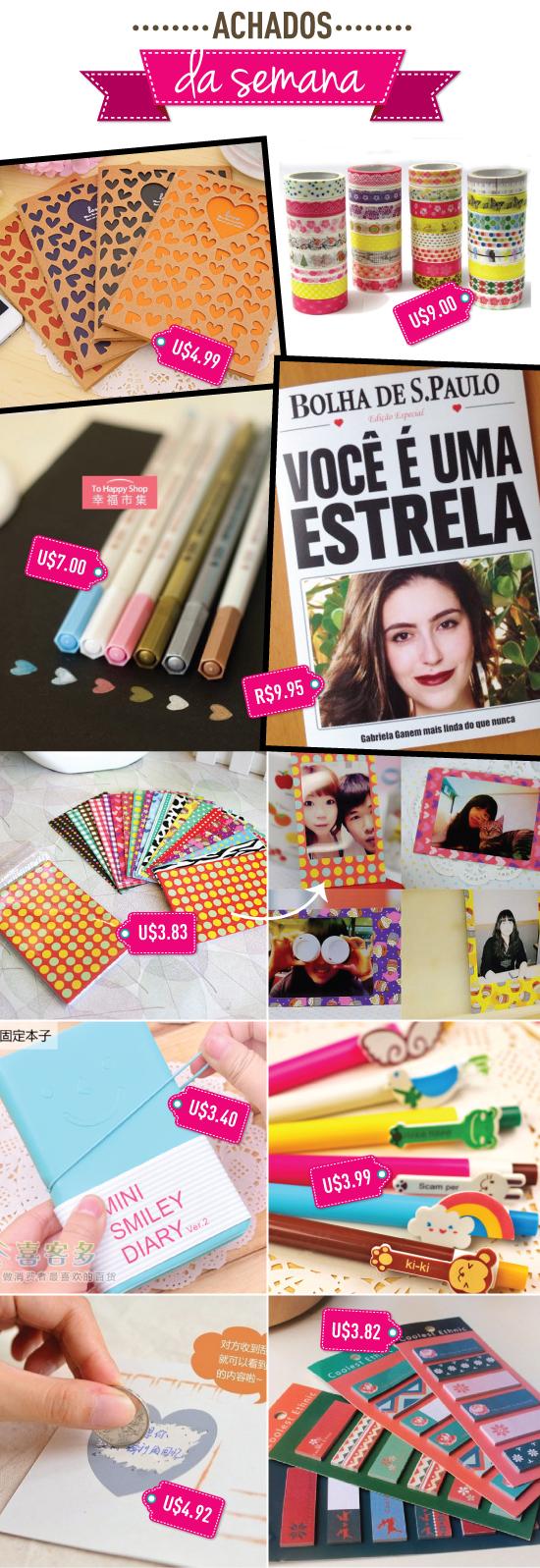 achados-da-semana-papelaria-stationary-barato-aliexpress-cards-4-you-personalizado-caderno-agenda-cartao-caneta-sticker-note-moldura-adesivo-durex-fita-polaroid