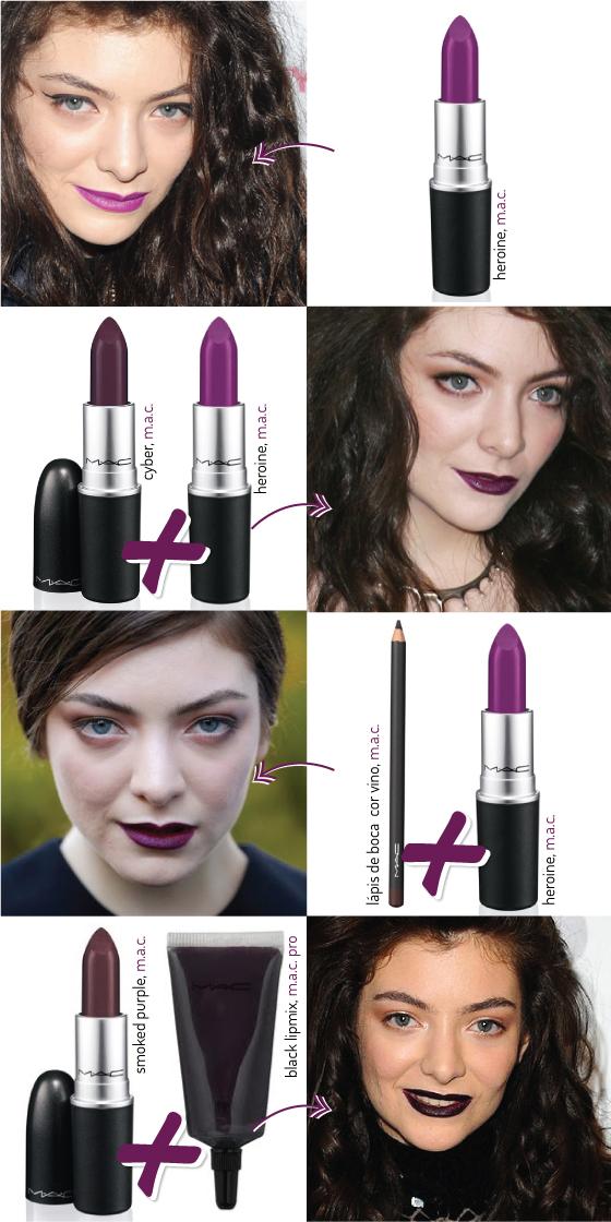 lorde-lipstick-guide-get-the-look-batom-usa-usado-escuro-vinho-dark-make-makeup-beauty-look-mac-collection-colecao-roxo-preto-qual-marca-igual-pencil-lip-vino-coachella-cyber-heroine-purple-smoked-pro-black-lipmix-dupe