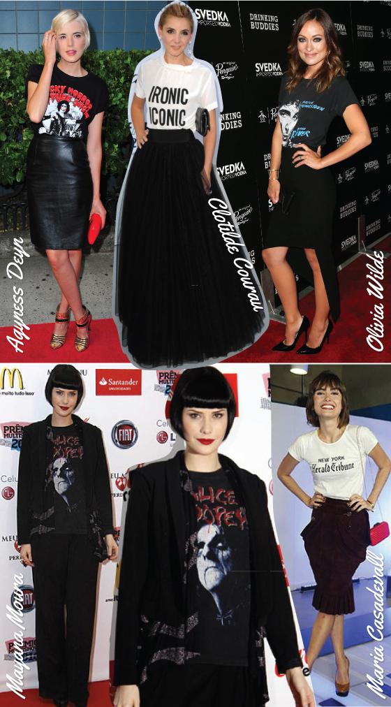 t-shirt-red-carpet-tapete-vermelho-looks-camiseta-estampada-rocker-banda-mayana-moura-maria-casadevall-olivia-wilde