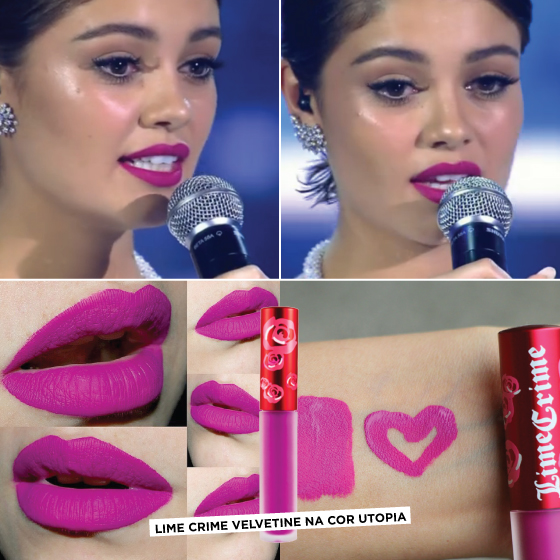 SOPHIE-charlotte-batom-qual-usou-show-roberto-carlos-lime-crime-velvetine-utopia-mate-rosa-pink-cor