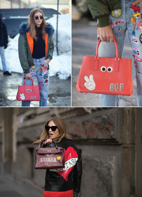 anya-hindmarch-leather-sticker-adesivo-couro-acessorio-street-style-lfw-nyfw-estilo-look-bolsa-bag-london-londres-chiara-ferragni