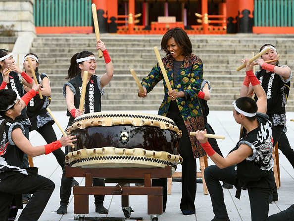 U.S. First Lady Michelle Obama Visits Japan