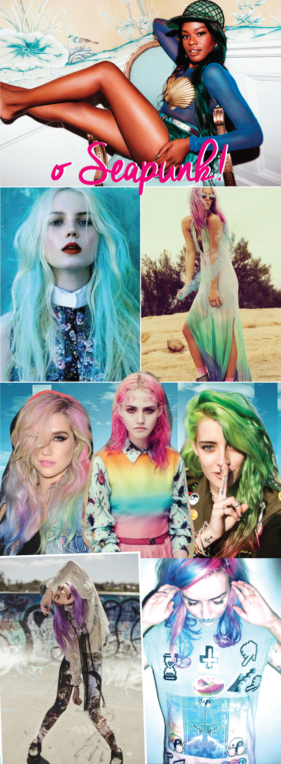 sereia-sereismo-tendencia-seapunk-wildfox-biquini-concha-tendencia-trend-mermaid-fashion-taylor-swift-elie-saab-cabelo-hair-pinterest-green-azul-blue-verde