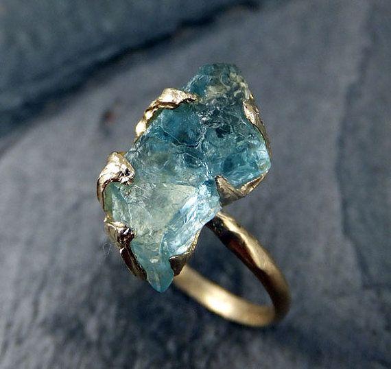 anel pedra bruta etsy 3