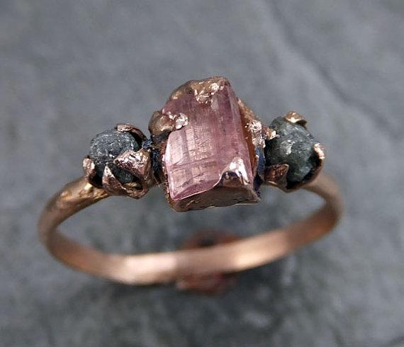 anel pedra bruta etsy 4