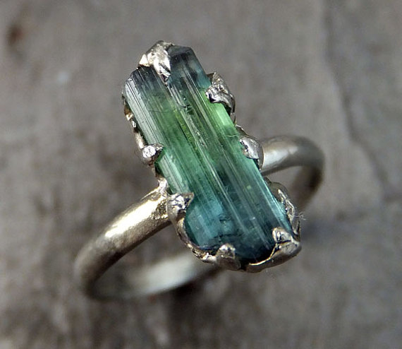 anel pedra bruta etsy 5