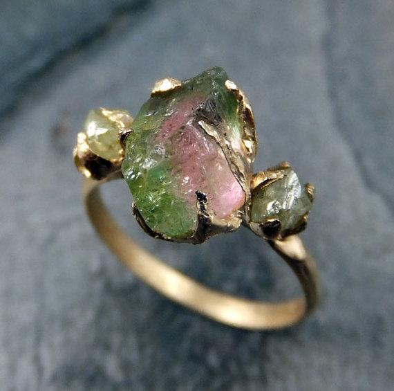anel pedra bruta etsy 7