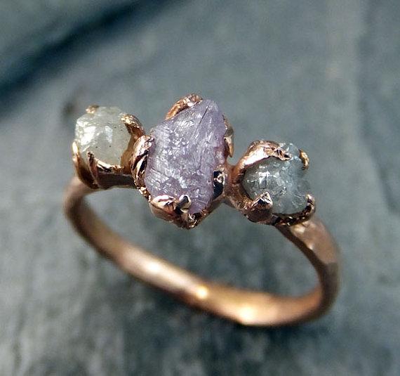 anel pedra bruta etsy 8
