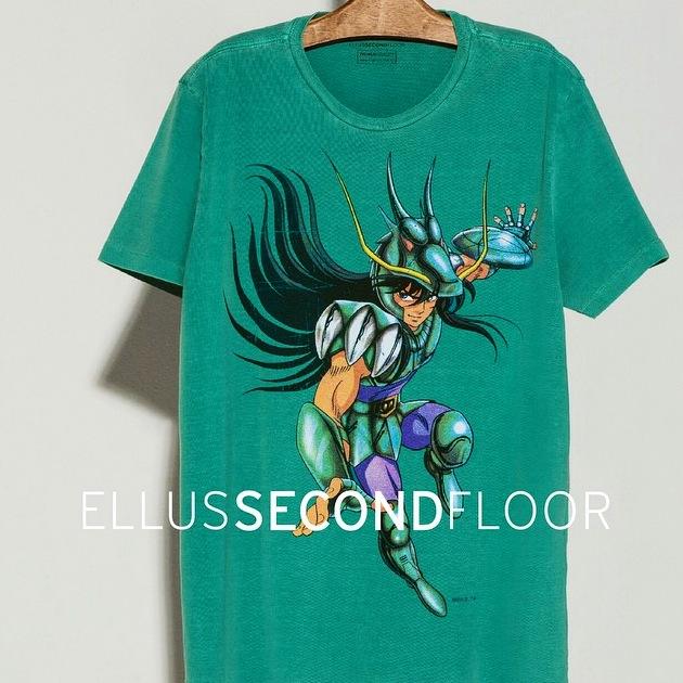 camiseta cavaleiros do zodiaco ellus second floor cavaleiros de ouro e bronze 5