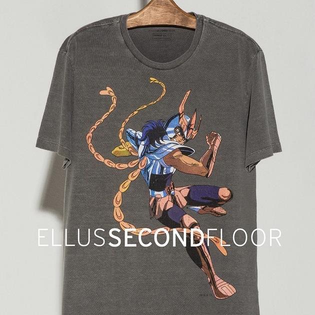 camiseta cavaleiros do zodiaco ellus second floor cavaleiros de ouro e bronze 6