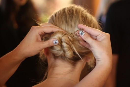 spin pin grampos cabelo penteado pratico