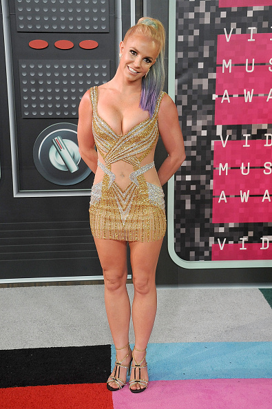 LOS ANGELES, CA - AUGUST 30:  Singer Britney Spears arrives at the 2015 MTV Video Music Awards at Microsoft Theater on August 30, 2015 in Los Angeles, California.  (Photo by Gregg DeGuire/WireImage)