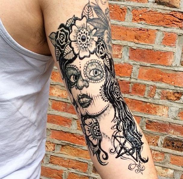 tatuagem temporaria inkbox caveira mexicana