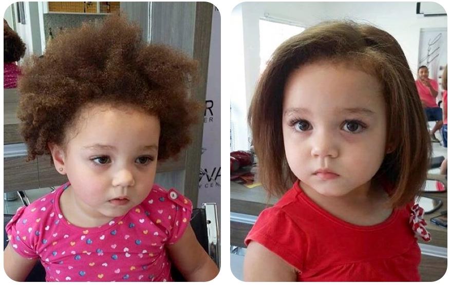 crianca cabelo alisado