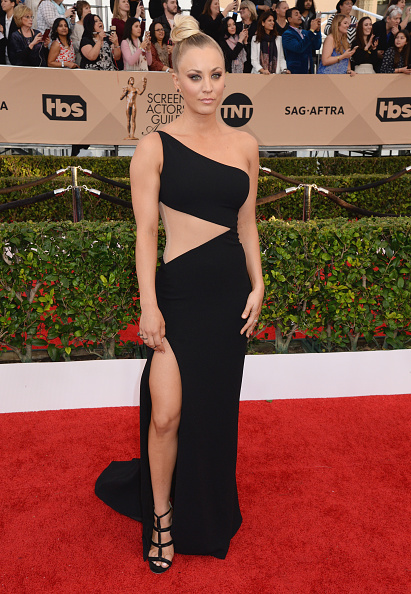 LOS ANGELES, CA - JANUARY 30: Actress Kaley Cuoco attends the 22nd Annual Screen Actors Guild Awards at The Shrine Auditorium on January 30, 2016 in Los Angeles, California. (Photo by Jeff Kravitz/FilmMagic)