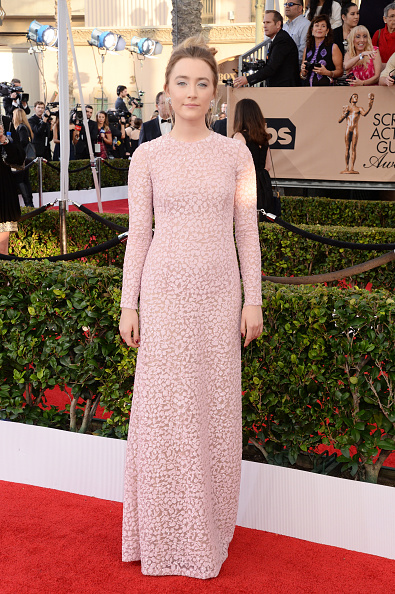 LOS ANGELES, CA - JANUARY 30: Actress Saoirse Ronan attends the 22nd Annual Screen Actors Guild Awards at The Shrine Auditorium on January 30, 2016 in Los Angeles, California. (Photo by Jeff Kravitz/FilmMagic)