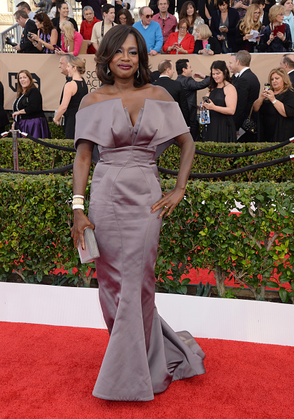 LOS ANGELES, CA - JANUARY 30: Actress Viola Davis attends the 22nd Annual Screen Actors Guild Awards at The Shrine Auditorium on January 30, 2016 in Los Angeles, California. (Photo by Jeff Kravitz/FilmMagic)