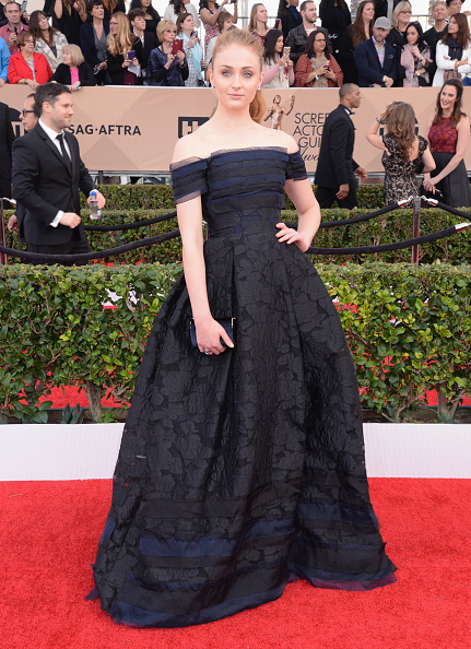 LOS ANGELES, CA - JANUARY 30: Actress Sophie Turner attends the 22nd Annual Screen Actors Guild Awards at The Shrine Auditorium on January 30, 2016 in Los Angeles, California. (Photo by Jeff Kravitz/FilmMagic)