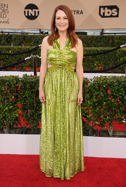 LOS ANGELES, CA - JANUARY 30:  Actress Julianne Moore arrives at the 22nd Annual Screen Actors Guild Awards at The Shrine Auditorium on January 30, 2016 in Los Angeles, California.  (Photo by Gregg DeGuire/WireImage)