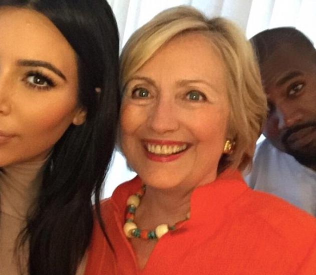 kim kardashian hillary clinton capinha telefone lumee luz selfie
